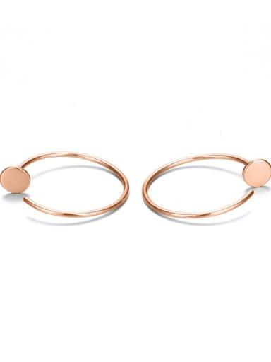 rose gold Stainless steel Geometric Minimalist Hoop Earring