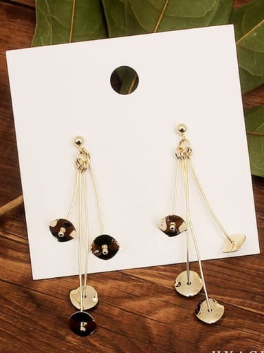 14K Gold Plated Brass 14K Gold Plated Trend Drop Earring