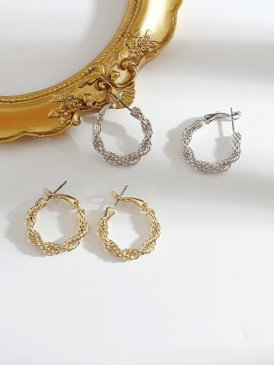 Alloy Hollow Round Minimalist Hoop Earring