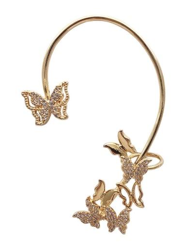 Alloy Rhinestone Butterfly Bohemia Single Earring