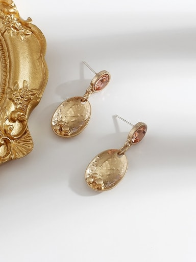 Sargent Copper  Smooth Geometric Vintage Drop Earring