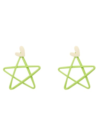 Copper Enamel Star Minimalist Stud Earring