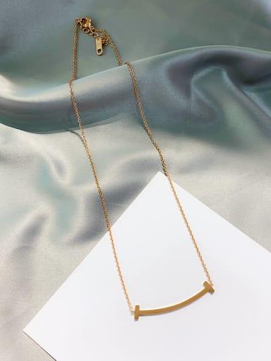Titanium Geometric smile Trend Necklace
