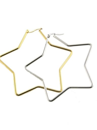 Stainless steel hollow Star Minimalist Chandelier Earring