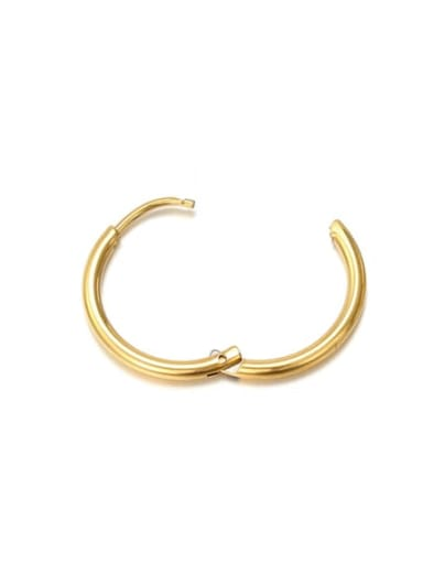 10mm gold Stainless steel Round Minimalist Hoop Earring