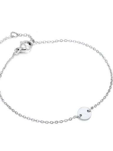 Stainless steel Round Minimalist Bracelet