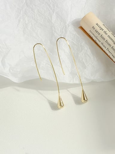 Copper Water Drop Minimalist Hook Earring