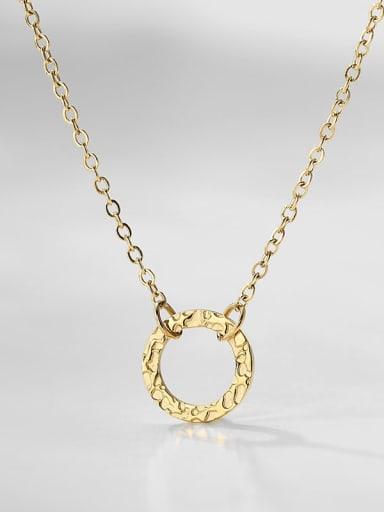 golden Stainless steel Round Minimalist Necklace