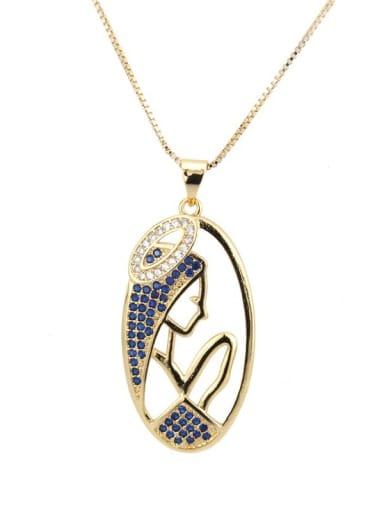 Brass Cubic Zirconia Religious Vintage Regligious Necklace
