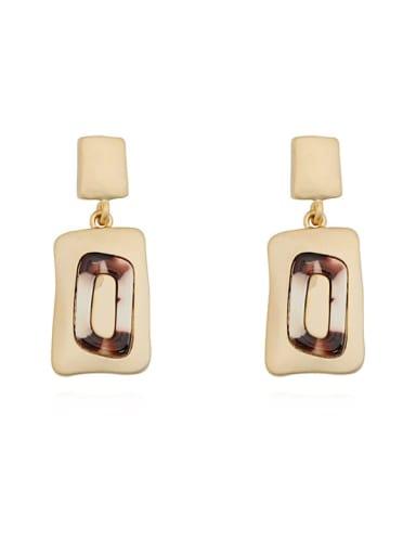 Copper Geometric Vintage Drop Earring