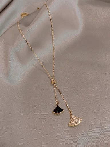 Black Necklace Zinc Alloy Cubic Zirconia White Enamel Trend Drop Earring/Necklaces
