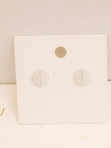 Dumb Silver Copper Geometric Minimalist Stud Earring