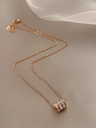 Titanium Rhinestone White Locket Classic Necklace