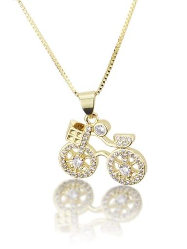 Brass Cubic Zirconia Irregular Dainty Necklace