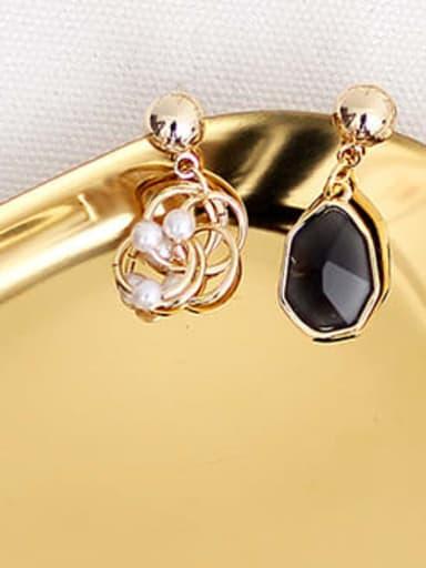 black Copper Resin Geometric Bohemia Drop Earring