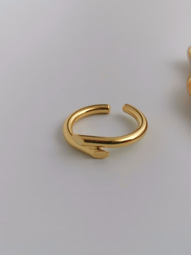 Copper Smooth Geometric Minimalist Free Size Band Ring