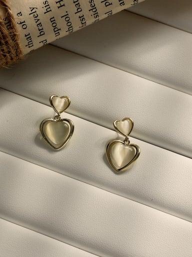 Copper Cats EyE Acrylic Heart Minimalist Stud Earring