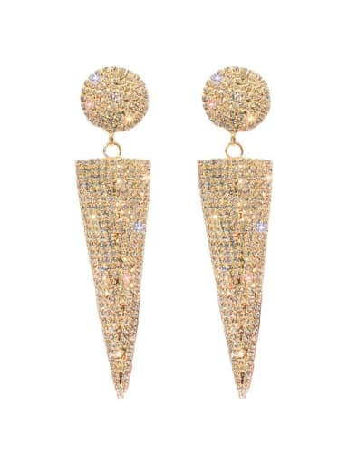 Alloy Cubic Zirconia Triangle Statement Chandelier Earring