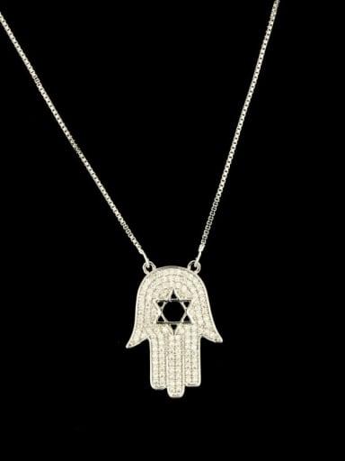 Brass Cubic Zirconia Star Minimalist Necklace