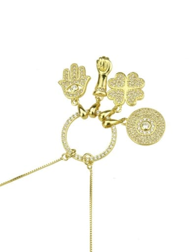 As shown in the figure Brass Cubic Zirconia White Key Dainty Necklace