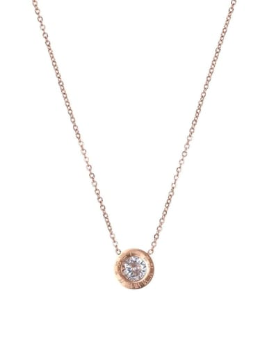 Stainless steel Round Dainty Necklace