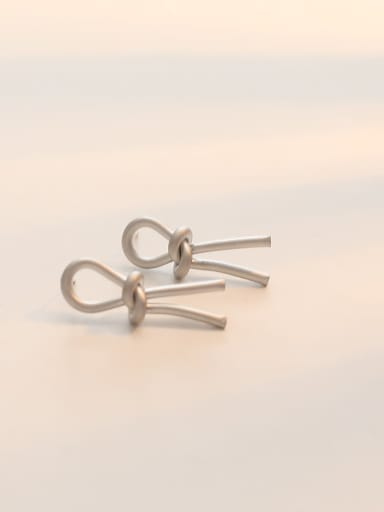 Dumb Silver Copper Hollow Irregular Minimalist Stud Earring