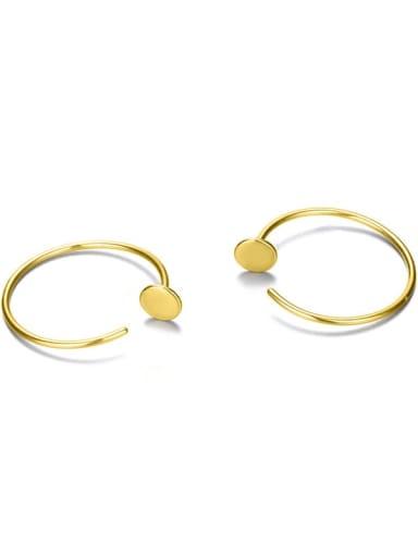 golden Stainless steel Geometric Minimalist Hoop Earring