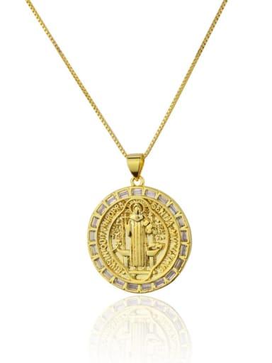 gold-plated Brass Cubic Zirconia Round Minimalist Initials Necklace