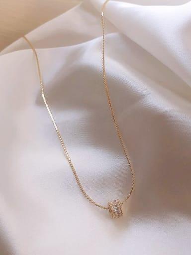 Zinc Alloy Cubic Zirconia White Geometric Classic Necklace