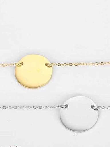 Stainless steel Geometric Minimalist Link Necklace