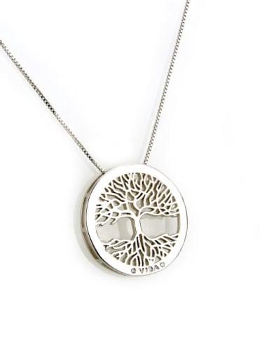 Platinum plating Brass Cubic Zirconia Round Dainty Necklace