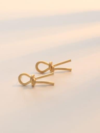 Dumb gold Copper Hollow Irregular Minimalist Stud Earring