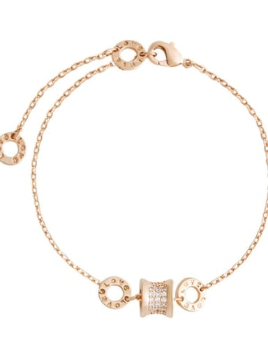 Alloy Rhinestone Geometric Minimalist Link Bracelet