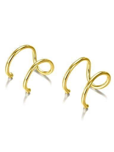 golden Stainless steel Geometric Minimalist Stud Earring