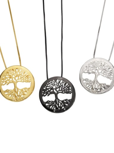 Brass Cubic Zirconia Round Dainty Necklace