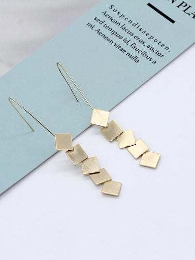 14k Gold Copper Tassel Minimalist Drop Earring