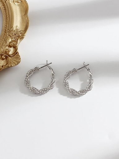 white k Alloy Hollow Round Minimalist Hoop Earring