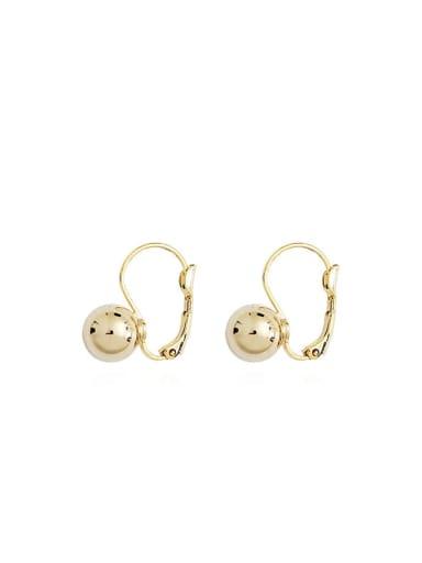 Copper Ball Minimalist Huggie Earring