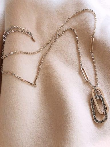 Zinc Alloy Geometric Trend Necklace