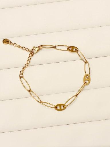 Fishbone chain Stainless steel Hollow Geometric Vintage Link Bracelet