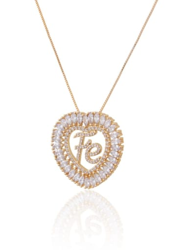 Brass Cubic Zirconia Message Dainty Necklace