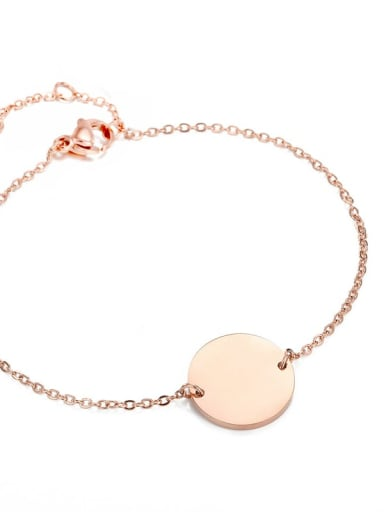 rose gold Color customize Stainless steel round 15cm Bracelet