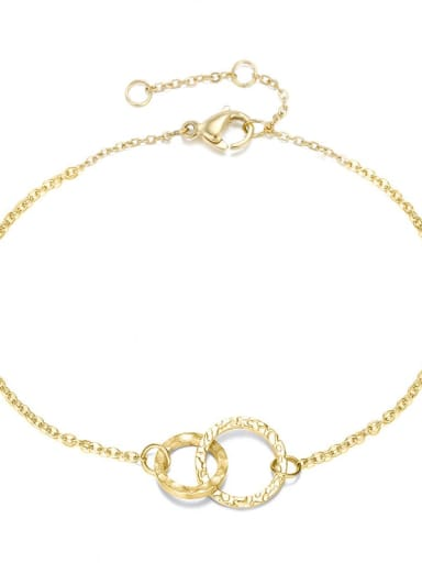 golden Stainless steel Round Minimalist Chain
