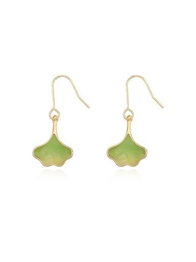 Copper Enamel Heart Minimalist Hook Earring