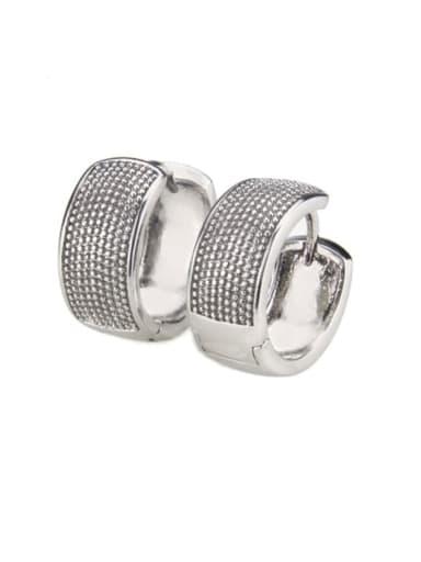 Platinum plating Brass Cubic Zirconia Round Minimalist Earring