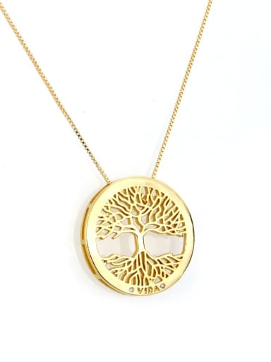gold-plated Brass Cubic Zirconia Round Dainty Necklace