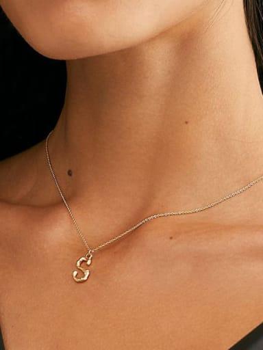 Titanium 26 Letter Minimalist Initials Necklace