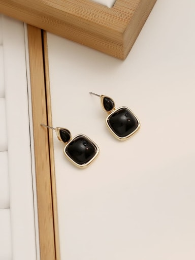 black Copper Water Drop Minimalist Drop Earring