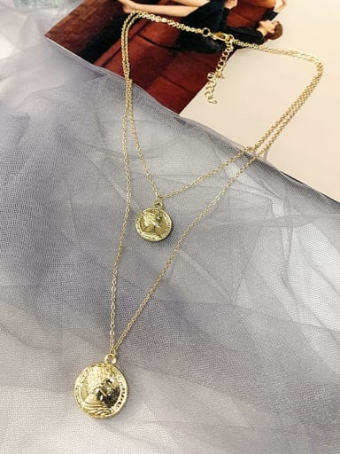 Alloy Locket Trend Multi Strand Necklace