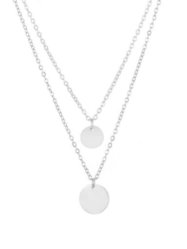 Stainless steel Round Minimalist Necklace
